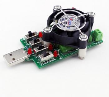 USB нагрузочный резистор 4A 15 режимов вентилятор